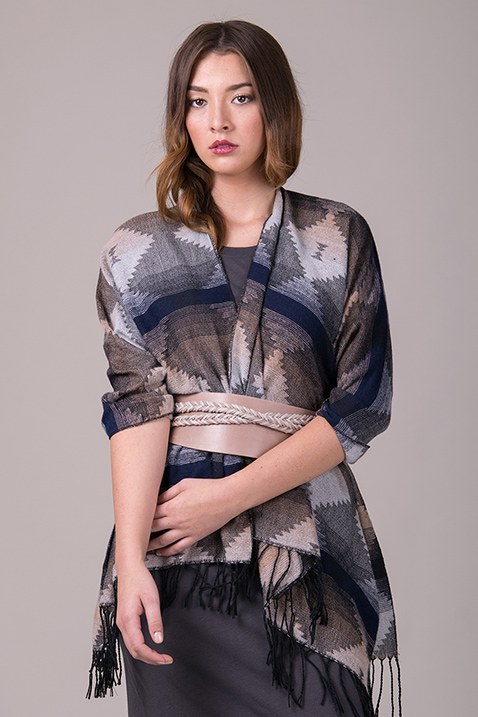 Shawl + Wrap Belt   5 'Must-Try' Fall Styling Combos   Belted scarf   Grey outfit   ADA Blog